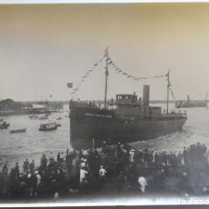 Photographie ancienne: UNION NAVAL DE LEVANTE BARCO MIGUEL PRIMO DE RIVERA BOTADURA 28 JULIO DE 1926 TAMAÑO 17 X 23 CM.. Lote 228711700