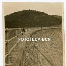 Fotografía antigua: FOTO ORIGINAL MURO DE PANTANO POSIBLEMENTE RIUDECANYES AÑOS 20/30. Lote 229150790