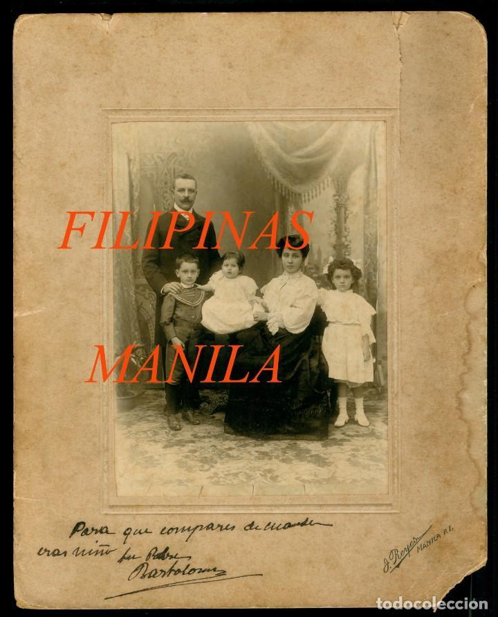 FILIPINAS - MANILA - 1900 - FOTOGRAFIA J. REYES - FAMILIA FREIXAS (Fotografía Antigua - Gelatinobromuro)