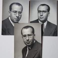 Fotografía antigua: RETRATOS DE HOMBRE CON DIVERSAS POSES EN LA MISMA SESIÓN. KÁULAK. FIRMAS MANUSCRITAS.. Lote 243349815