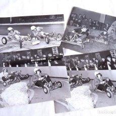 Fotografía antigua: LOTE DE 4 FOTOGRAFÍAS INGLESAS DE CARRERAS DE KARTS. 1959-1962.. Lote 243868795