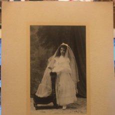 Fotografía antigua: FOTOGRAFIA NIÑA PRIMERA COMUNION DE KAULAK, CANOVAS DEL CASTILLO. Lote 244194105