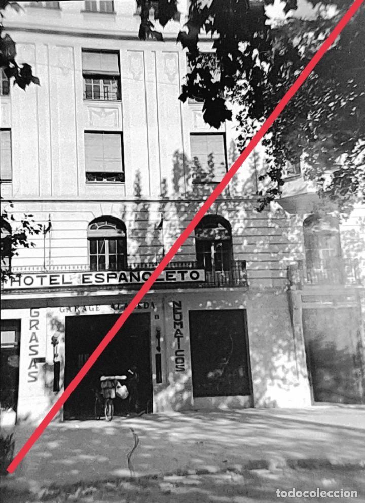 ANTIGUO NEGATIVO DE FOTOGRAFÍA. CLICHÉ. MUNICIPIO DE XATIVA (JÁTIVA). VALENCIA.HOTEL ESPAÑOLETO. (Fotografía Antigua - Gelatinobromuro)