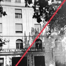 Fotografía antigua: ANTIGUO NEGATIVO DE FOTOGRAFÍA. CLICHÉ. MUNICIPIO DE XATIVA (JÁTIVA). VALENCIA.HOTEL ESPAÑOLETO.. Lote 251684510