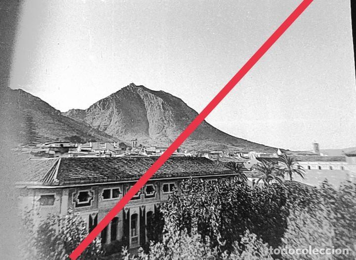 ANTIGUO NEGATIVO DE FOTOGRAFÍA. CLICHÉ. MUNICIPIO DE XATIVA (JÁTIVA) VALENCIA.VISTA. (Fotografía Antigua - Gelatinobromuro)