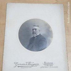 Fotografía antigua: FOTOGRAFÍA CABALLERO FOTO GARCÍA RAZQUIN BILBAO 16,5X11,5 CM.. Lote 254229205