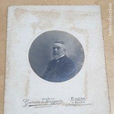 Fotografía antigua: FOTOGRAFÍA CABALLERO FOTO GARCÍA RAZQUIN BILBAO 16,5X11,5 CM.. Lote 254229350