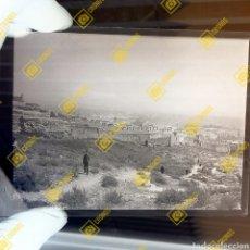Fotografía antigua: PLACA CRISTAL GELATINO BROMURO DE ALMERÍA FOTOGRAFIA FECHADA 1907. Lote 254977735