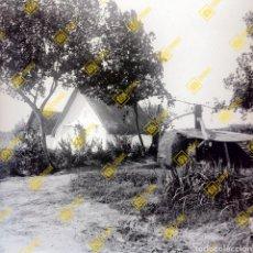 Fotografía antigua: PLACA CRISTAL GELATINO NEGATIVO BROMURO BARRACA VALENCIANA. VALENCIA. 1920-30. Lote 255599600