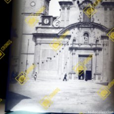 Fotografía antigua: PLACA CRISTAL GELATINO BROMURO 1920-30 CHIVA PARROQUIA DE SAN JUAN BAUTISTA.. Lote 257511910