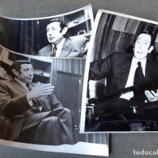 Fotografía antigua: 3 FOTOGRAFÍAS DE UN FAMOSO O POLÍTICO. Lote 261120140