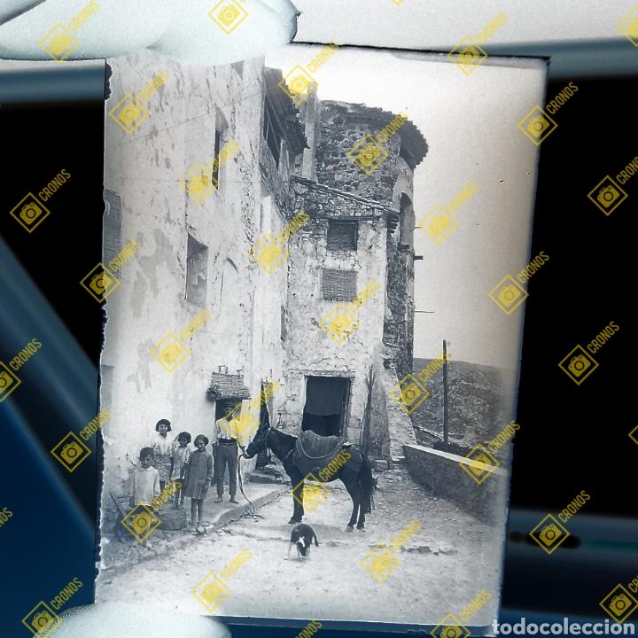 PLACA CRISTAL GELATINO BROMURO JERICA CASTELLÓN 1920 (Fotografía Antigua - Gelatinobromuro)