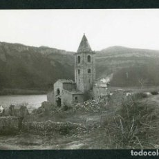 Fotografía antigua: PANTANO DE SAU. SANT ROMÀ. IGLESIA. C.1965. Lote 262937035