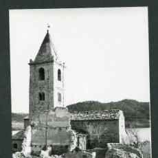 Fotografía antigua: GIRONA. SANT ROMÀ. IGLESIA Y PANTANO. C.1965. Lote 262939500