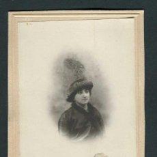 Fotografía antigua: SEÑORA CON PRECIOSO SOMBRERO. MERCE MARGARIT. BCN. C. 1900. Lote 263174070