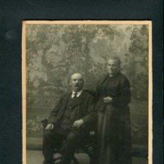 Fotografía antigua: PAREJA. ESTUDIO DESCONOCIDO. BCN. C. 1900. Lote 263174570