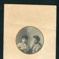 Fotografía antigua: MADRID. FOTO DE DOS HERMANAS. F: COMPANY. C.1900. Lote 263175650