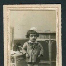 Fotografía antigua: NIÑA. BONITA FOTO. ZARAGOZA. 1921. Lote 263176200