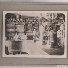 Fotografía antigua: FOTOGRAFÍA. INTERIOR DE UN COMERCIO DE INDIANOS. HABANA, CUBA. 1921 ASTURIAS. Lote 263193190