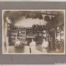 Fotografía antigua: FOTOGRAFÍA. INTERIOR DE UN COMERCIO DE INDIANOS. HABANA, CUBA. 1918 ASTURIAS. Lote 263194195