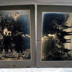 Fotografía antigua: DUARTE. OVIEDO. DOS FOTOGRAFIAS GRANDES DIMENSIONES JOSE TARTIERE CON AUTORIDADES. ASTURIAS. H. 1920. Lote 263551325