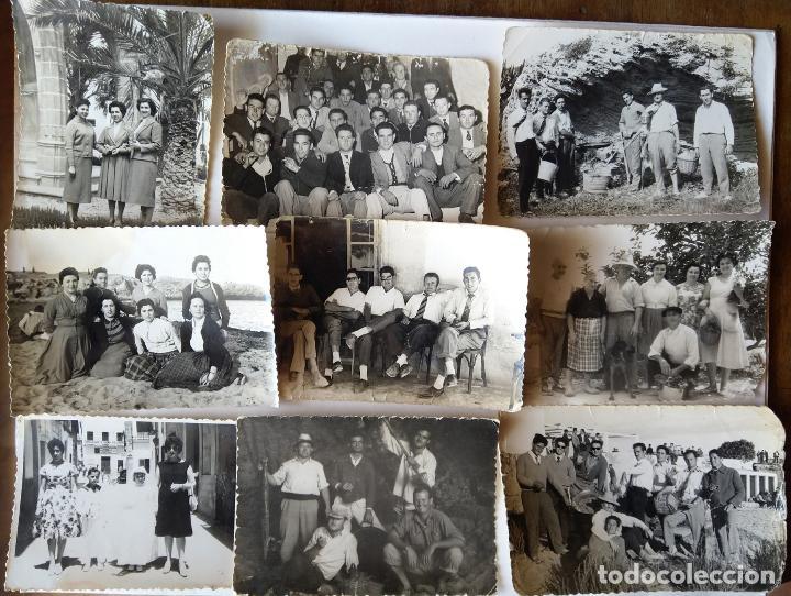 JAVEA LOTE 9 FOTOGRAFIAS TAMAÑO 6 X 9 CM. (Fotografía Antigua - Gelatinobromuro)