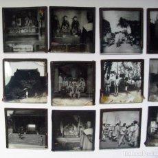 Fotografía antigua: CHINA. 14 POSITIVOS SOBRE CRISTAL PARA LINTERNA MAGICA. H. 1900. Lote 265409089