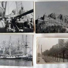 Fotografía antigua: ALICANTE LOTE 4 FOTOGRAFIAS TAMAÑO 9 X 11,5 CM Y UNA DE 7,5 X 10,5 CM. Lote 267319774