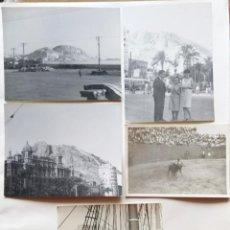 Fotografía antigua: ALICANTE LOTE 5 FOTOGRAFIAS TAMAÑO 9 X 11,5 CM Y DOS DE 7,5 X 10,5 CM. Lote 267319894