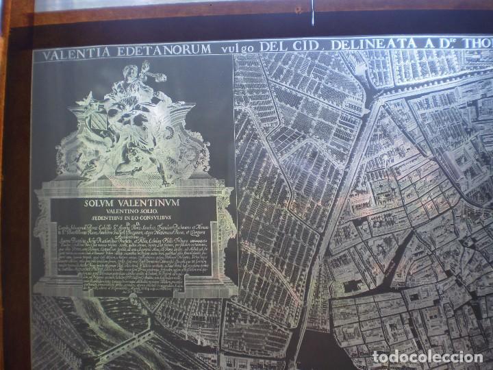 Fotografía antigua: MAPA DE VALENCIA SIGLO XVIII EN CRISTAL. AÑO ??? VER FOTOS. OCASION - Foto 2 - 269069768