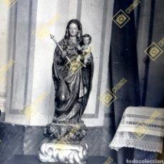 Fotografia antica: ANTIGUA PLACA CRISTAL NEGATIVO GELATINO BROMURO VIRGEN DE LA CABEZA BURJASSOT VALENCIA. AÑO 1920. Lote 269259043