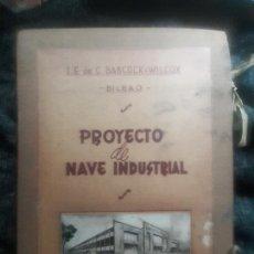 Photographie ancienne: FOTOS, DOCUMENTOS Y PLANOS. BABCOCK WILCOX BILBAO TUBOS DE ACERO MADRID 1956 ENTRECANALES.. Lote 269738193
