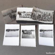Fotografía antigua: LOTE FOTOGRAFÍAS DE UN PARTIDO Y EQUIPO DE FUTBOL DESCONOCIDO. Lote 270166723