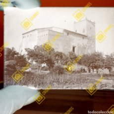 Fotografía antigua: LOTE DE 3 PLACAS GELATINO BROMURO EL CASTELL PALAU D'ALBALAT DELS SORELLS VALENC. Lote 272269398