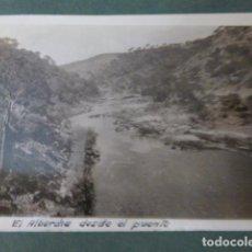 Fotografia antica: SAN MARTIN DE VALDEIGLESIAS MADRID RIO ALBERCHE FOTOGRAFIA 1931 8 X 6,5 CMTS. Lote 276289708