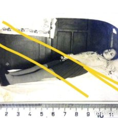 Fotografía antigua: POST MORTEM DE JOVENCITA AÑOS 40 ORIGINAL. Lote 161786782