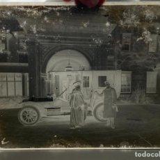 Fotografía antigua: PLACA CRISTAL NEGATIVO , COCHE , AUTOMOVIL . 21,5 X 16,5 CM. 1920 APROX.. Lote 277511843