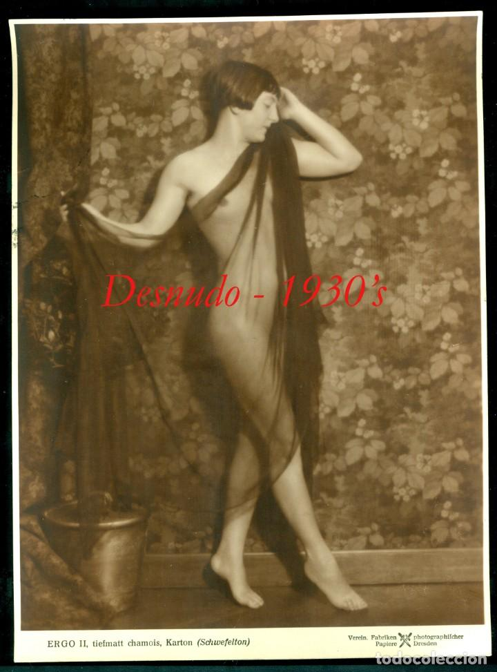 DESNUDO - ALEMANIA - 1930'S (Fotografía Antigua - Gelatinobromuro)