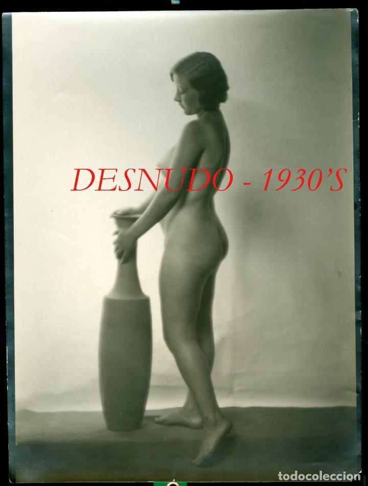 DESNUDO - 1930'S - AUTOR DESCONOCIDO (Fotografía Antigua - Gelatinobromuro)