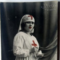 Fotografía antigua: VALENCIA FOTOGRAFO J. LLOPIS TAMAÑO POSTAL CARTON DURO COLOREADA. Lote 279371588