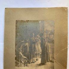 Fotografía antigua: FOTO. ESCENA FAMILIAR. VICENTE CASTELL, FOTÓGRAFO. AÑO 1902.. Lote 279504073