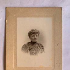 Fotografía antigua: FOTO. JOVEN Y ELEGANTE AMELIA. ANTONIO GARCÍA, FOTÓGRAFO. VALENCIA, 3 DICIEMBRE 1906.. Lote 279557888