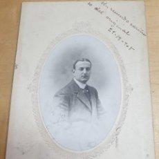 Fotografía antigua: FOTOGRAFÍA CABALLERO FOTO VDA. CASADO E HIJO MADRID AÑO 1908 21X14,5 CM.. Lote 279571148