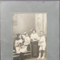 Fotografía antigua: CARTAGENA 1916 DEDICADA TAMAÑO FOTO 9.5 X 14.5 CM CARTON DURO 16 X 22 CM. Lote 279583498