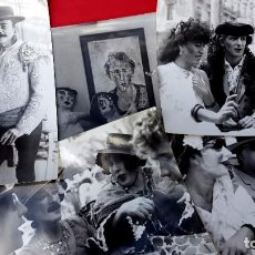 Fotografia antica: OCAÑA - PLAZA REAL - BARCELONA - HOMENAJE - 1983 - 5 FOTOGRAFIAS. Lote 282483143