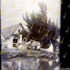 Fotografía antigua: NEGATIVO GELATINO-BROMURO VALENCIA BARRACAS 1920-30. Lote 282974118