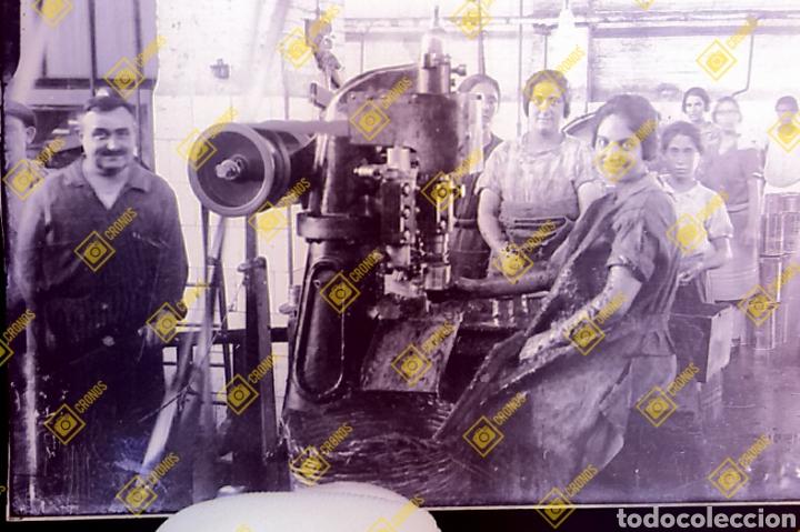 Fotografía antigua: Placa cristal gelatino-bromuro Valencia Fábrica de Conservas 1920/30 - Foto 2 - 284267028