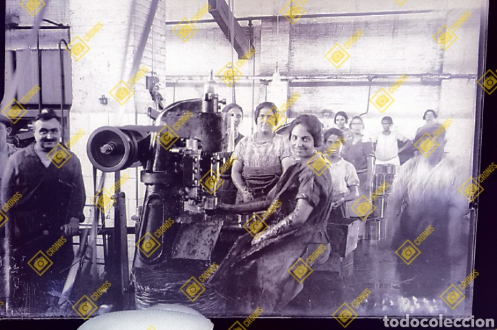 PLACA CRISTAL GELATINO-BROMURO VALENCIA FÁBRICA DE CONSERVAS 1920/30 (Fotografía Antigua - Gelatinobromuro)