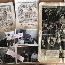 Fotografia antica: SALVADOR DALI IMPORTANTE LOTE 4 FOTOGRAFIAS ORIGINALES Y DOCUMENTOS CENA EN PERELADA 1966. Lote 284742718