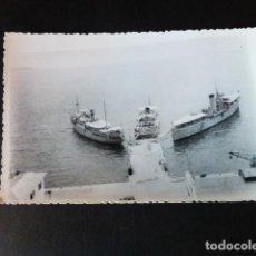 Fotografía antigua: CARTAGENA MURCIA BARCOS DE LA ARMADA ANTIGUA FOTOGRAFIA 8,5 X 13 CMTS. Lote 286408043